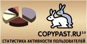 ! Внимание ВСЕМ ! Проводится подсчет статистики активности пользователей сайта copypast.ru !  Принимаем участие !
