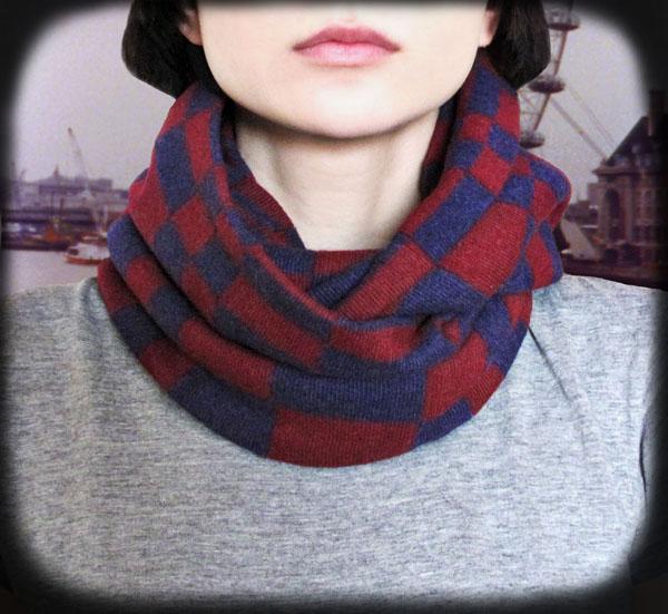 Шарф-снуд (шарф-труба, шарф-хомут): как вязать и как носить?