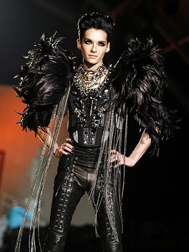 Bill Kaulitz Milan Menswear Fashion Week.