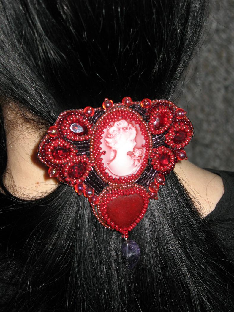 бисероплетение заколки для волос - Вышивка бисером.