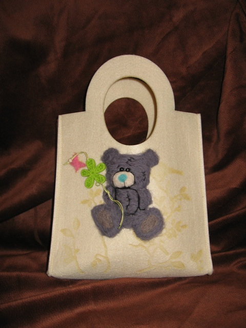 сумки из фетра, декорированные шерстью как называется такая техника кто...