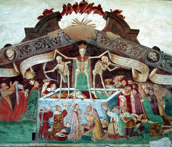 Фреска в Ораторио деи Дишиплини г.Клузоне,Ломбардия,XV в.