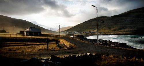 Деревня Húsavík,о.Сандой