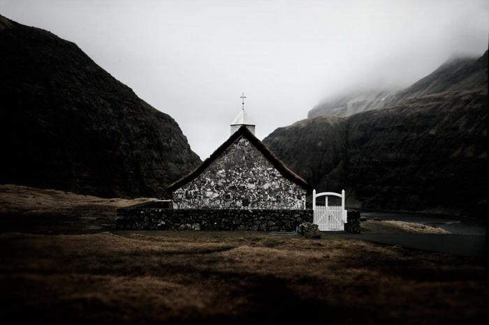 Церковь в деревне Saksun,о.Стреймой