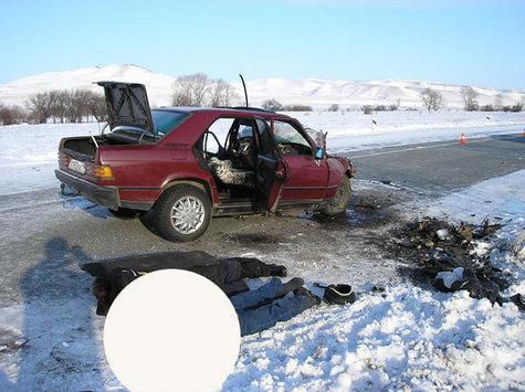 Авария на 120 км. автодороги Абакан. ДТП