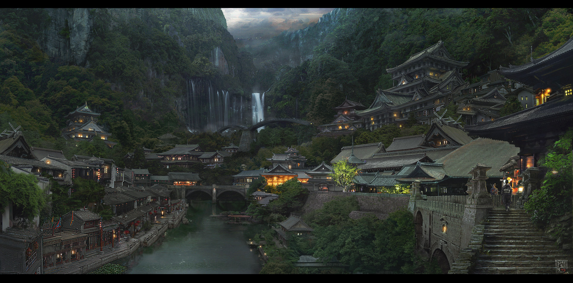 japanese_village_1 copyjpg 1935955 concept art mightier than the sword pinterest japanese and concept art