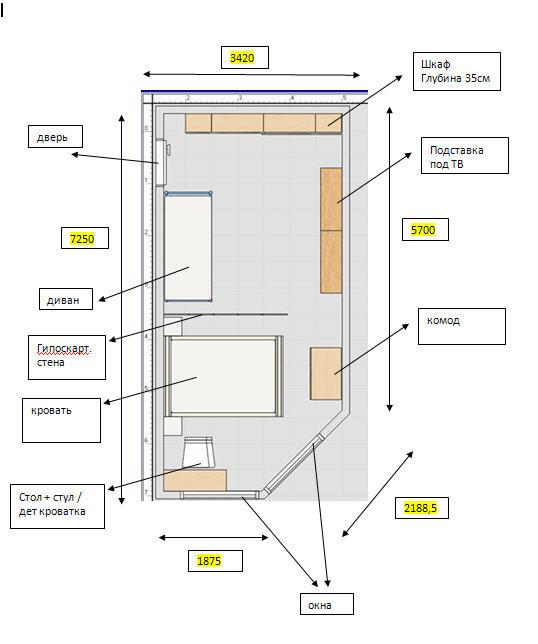 Расстановка в комнате - нужны советы - дизайн интерьера - фо.