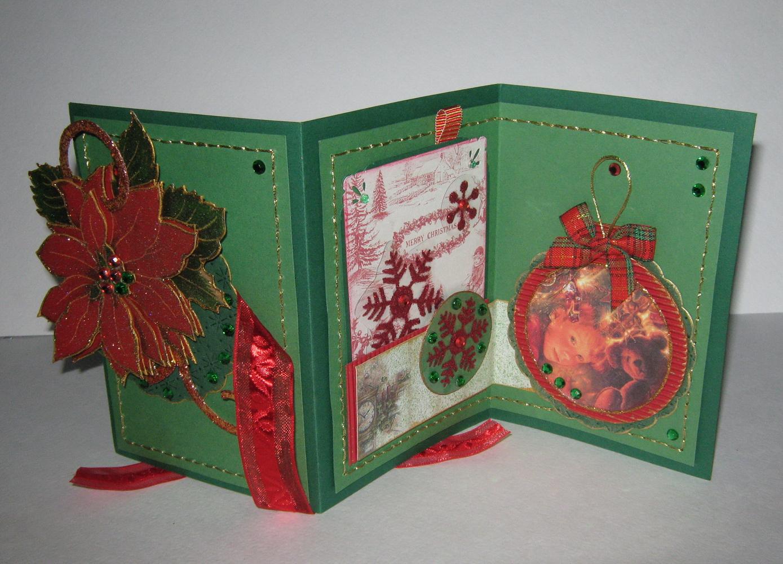 Открытка на тему рождество своими руками