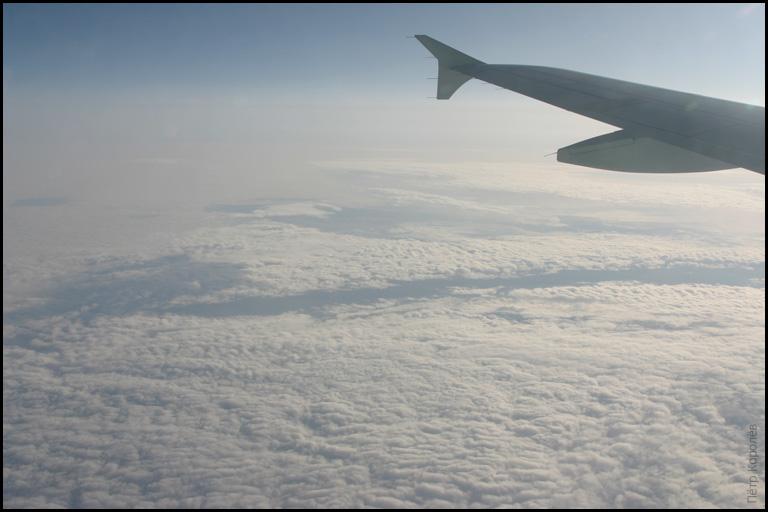 Облака над Латвией