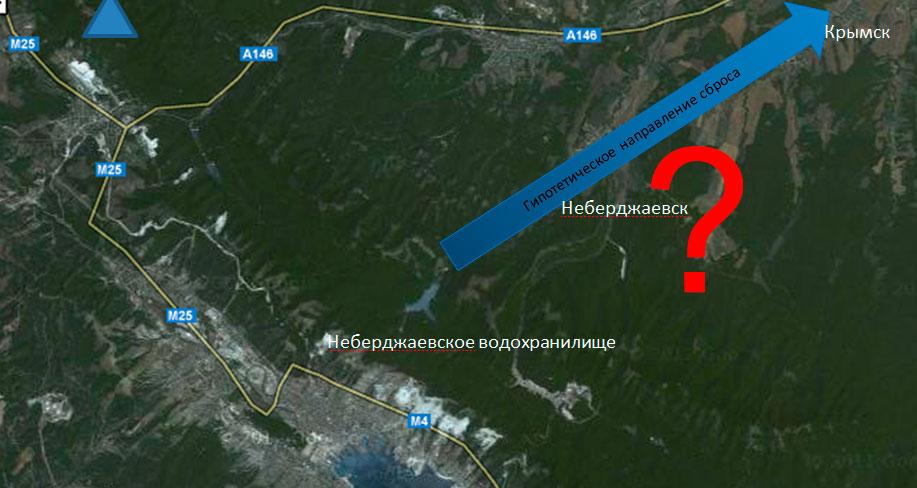 Неберджаевского Водохранилище Карта
