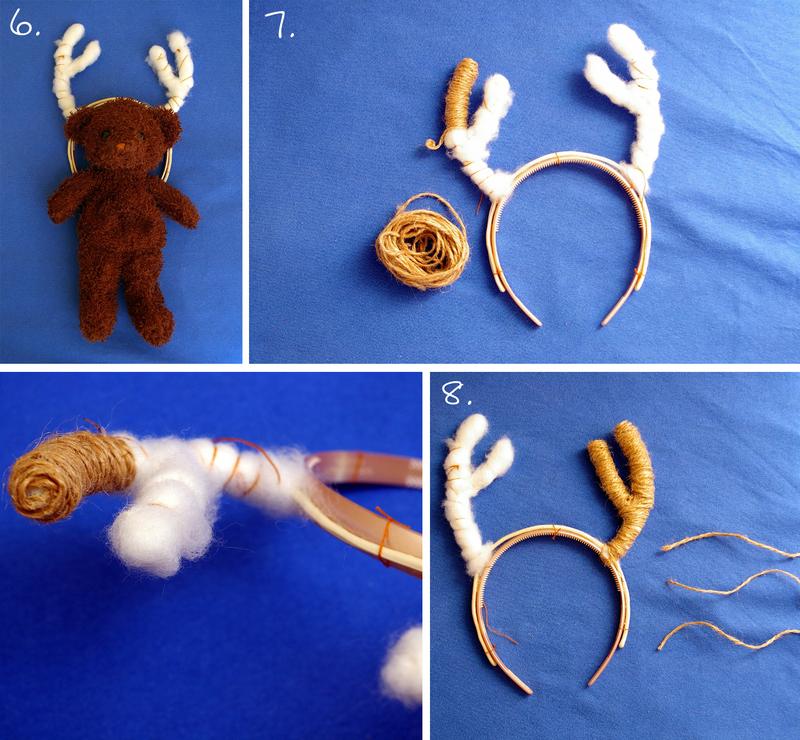 Как сделать рога оленя из картона своими