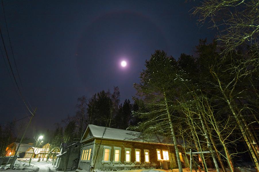 Лунное гало в ночь на 29 января