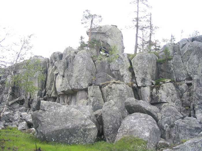 Гора Воттоваара в Карелии.