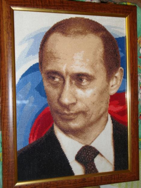 Портрет В.В.Путина из стали с