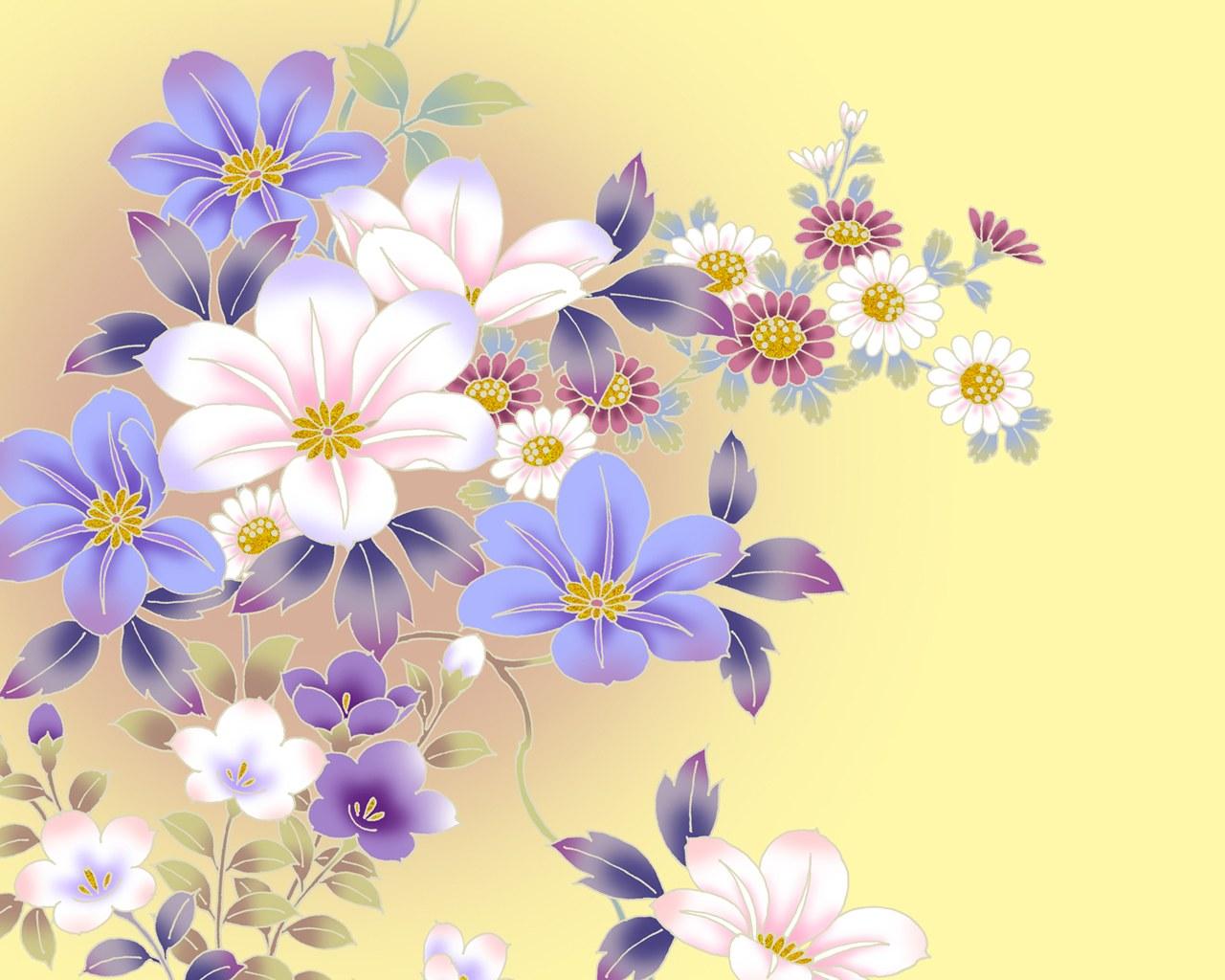 цветы сделать фоновым рисунок