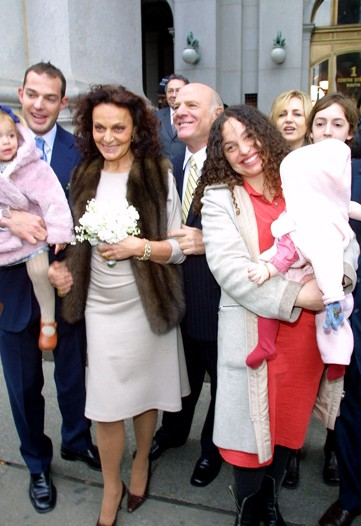 Family photo of the designer, married to Barry Diller,  famous for DVF.
