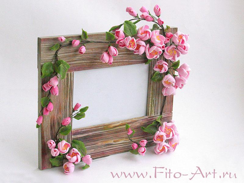 Оформление рамки для цветами