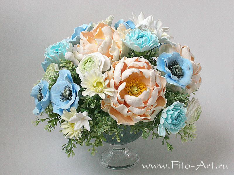 керамическая флористика, decoclay, цветы ручной работы, реалистичные цветы, цветы из полимерной глины, цветочная скульптура, полимерная флористика, стефанотис, букет с пионами, хризантемы, подарок на новоселье, подарок на юбилей, дорогой подарок,