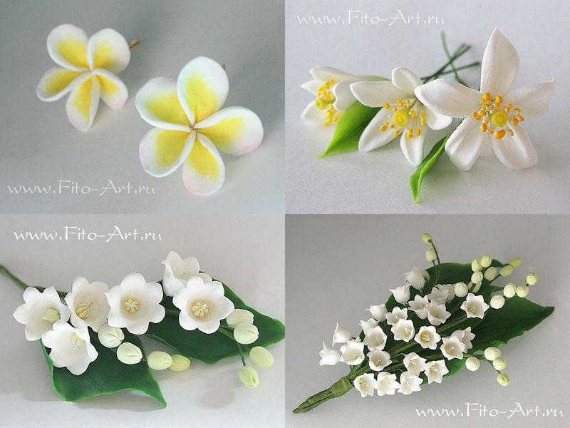 цветы из полимерной глины, цветы ручной работы, цветы апельсина, decoclay, керамическая флористика, ландыши