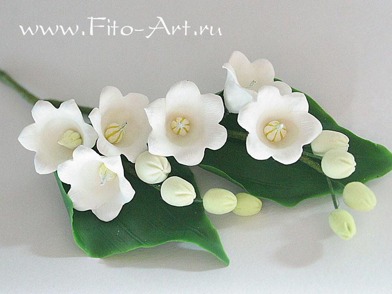 свадебные цветы из полимерной глины