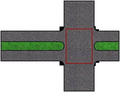 Перекресток и две проезжих части