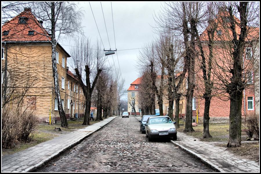 Тихая улочка в Черняховске