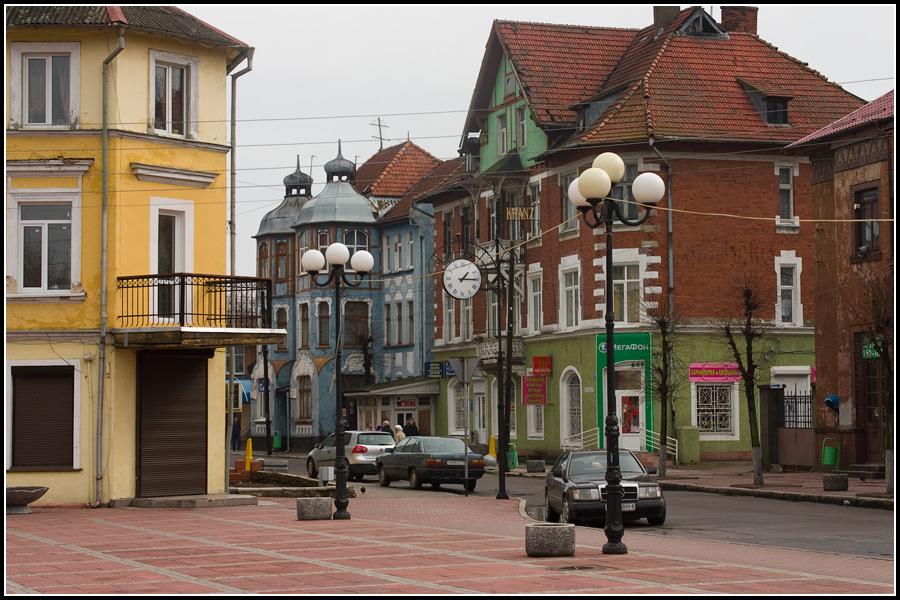 Курортный проспект и центральная площадь в Зеленоградске