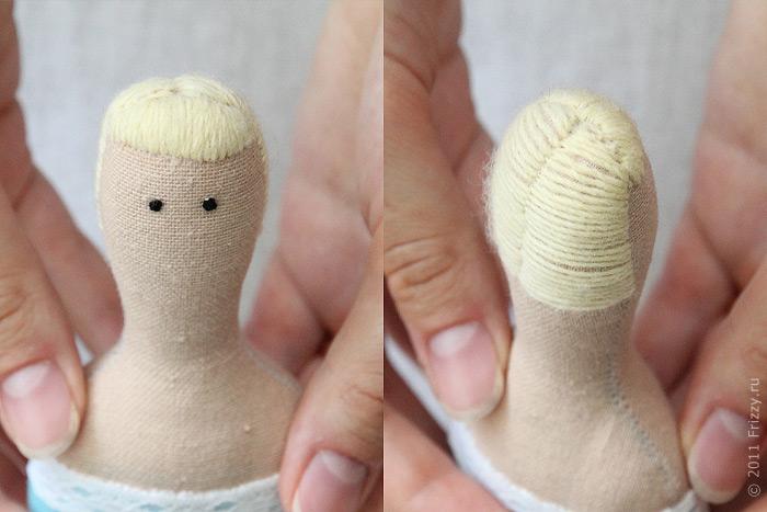 Как сделать волос кукле тильде 699