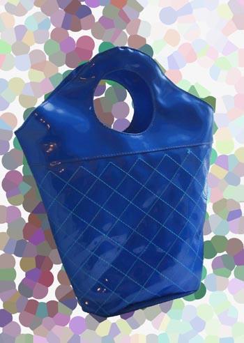 ПРОДАНО!* Синяя лаковая сумка прямиком из Сорренто.