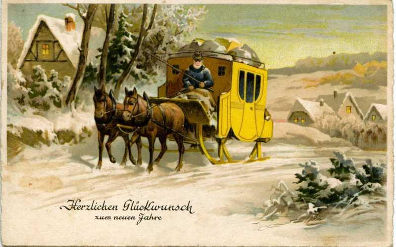 Новогодние открытки немецкие