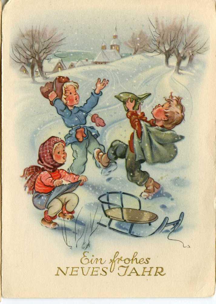 Немецкие новогодния открытки