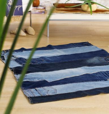 Занавески из старых джинсов 127