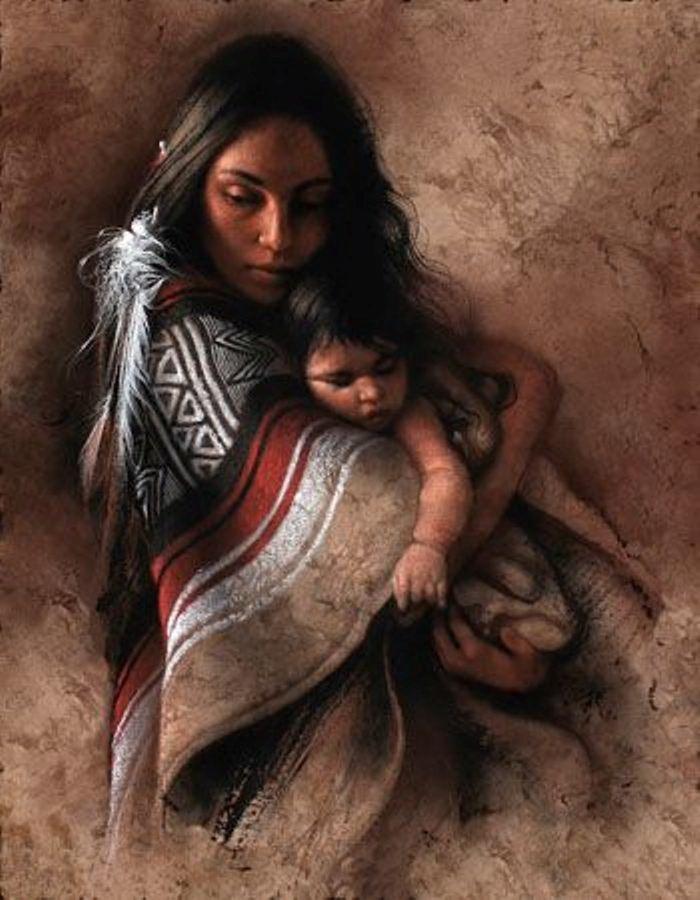 Majke sa decom, ocima slikara - Page 3 Indian-child