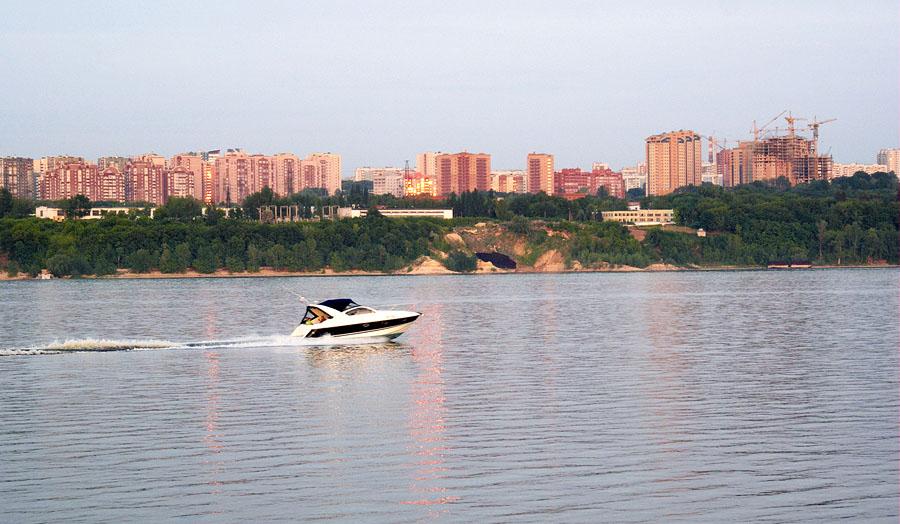 Самара, Волга, вид с противоположного берега