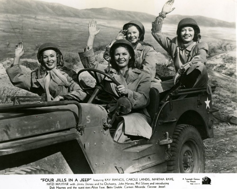 The USO in WWII USO---Kay-Francis_-Martha-Raye_-Carole-Landis_-and-Mitzi-Mayfair-_1944_