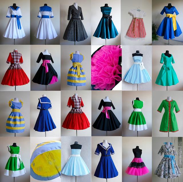 Платье в стиле стиляги как сшить