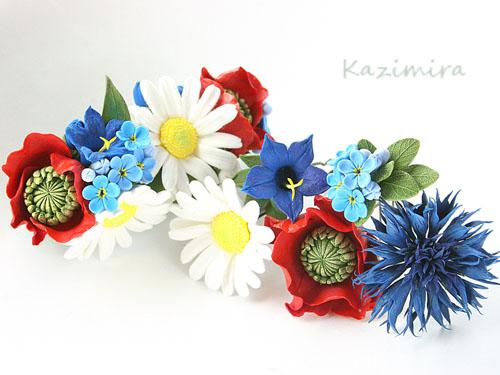 Полевые цветы пять шпилек и одна