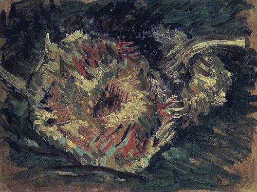 Ван Гог - Два срезаных подсолнуха