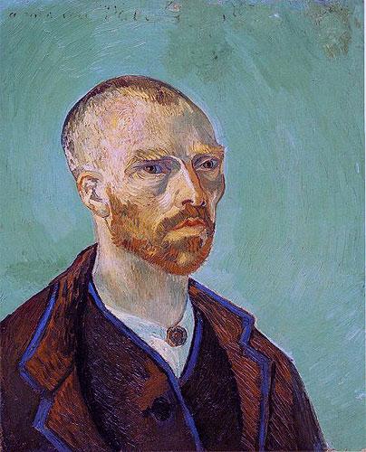 Ван Гог - Автопортрет с обритой головой, посвященный Гогену