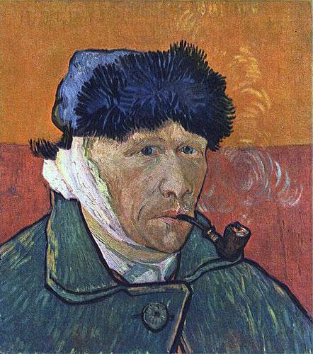 Ван Гог - Автопортрет с перевязанным ухом и трубкой