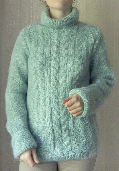 вязанные кофты 2011. модные свитера фото способ вязания спицами.