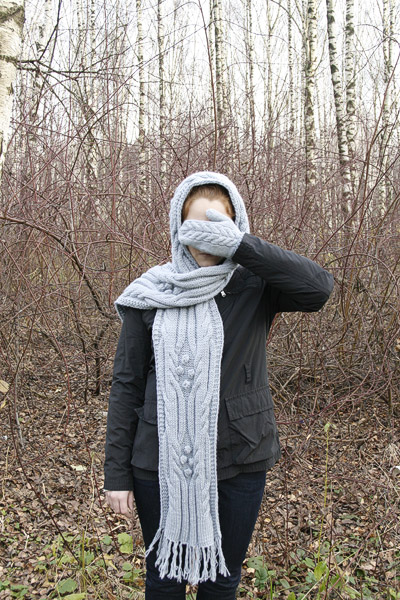 Мастер класс вязание капор шарф мода