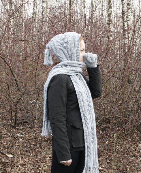 Описание: вязание спицами капор - вязание для.