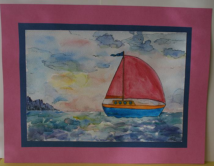 рисунок кораблик: