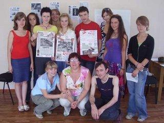С юными журналистами)