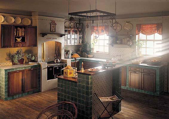 """В жж-сообществе. interiors ru. назвали это  """"Деревенским """" стилем кухонь."""