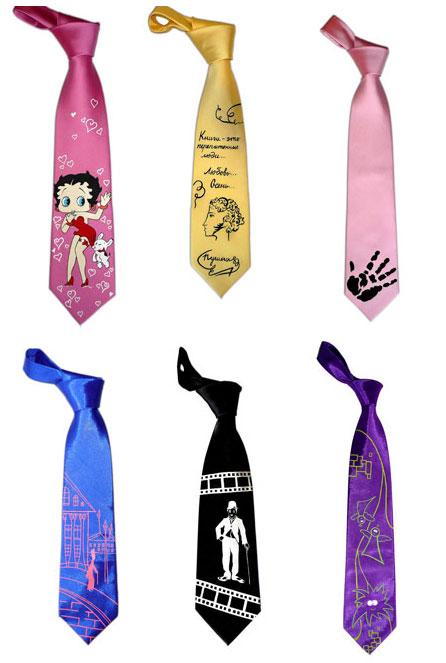 расписные галстуки от Палитры Настроений
