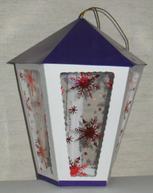 Как сделать новогодние фонарики из картона