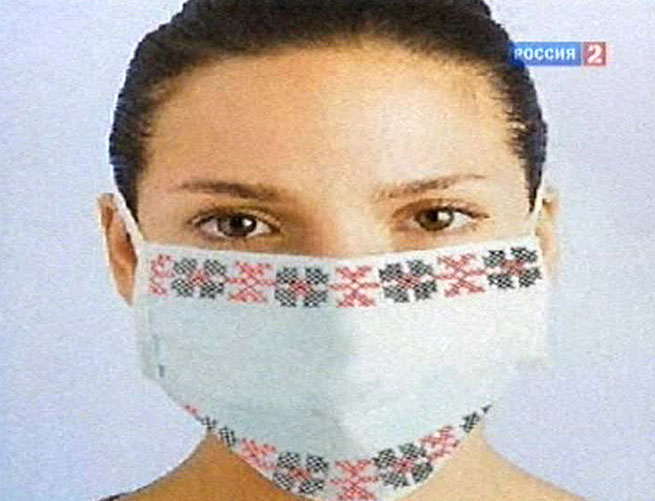 вышитая маска от смога