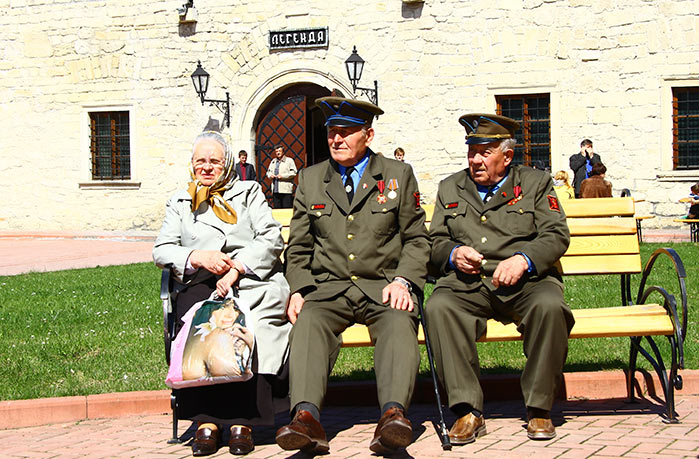 Ветерани у збаразькому замку